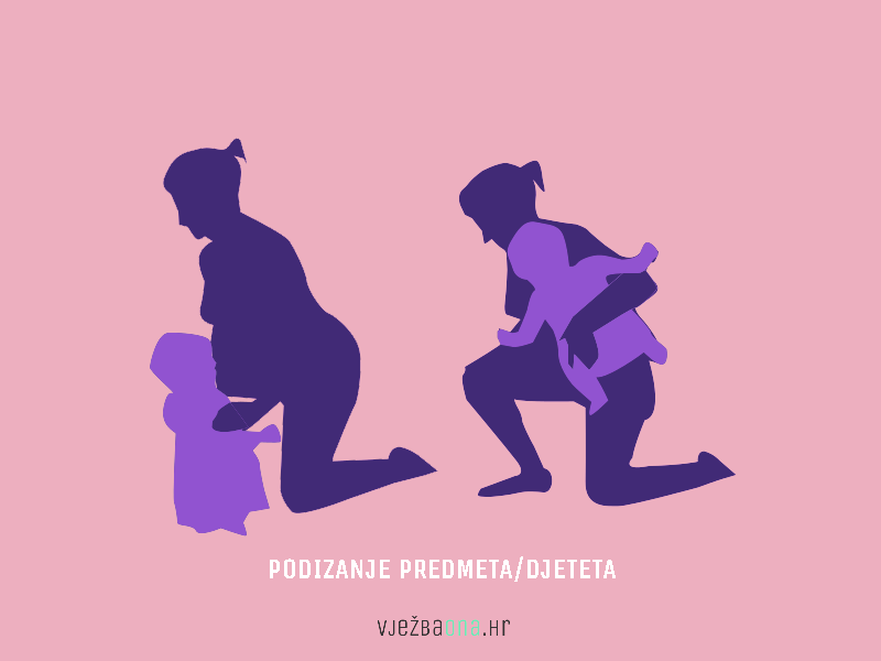 trudnica podize teret bolovi u ledima